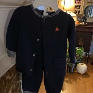 Carter's Navy Jacket and Pants Outfit